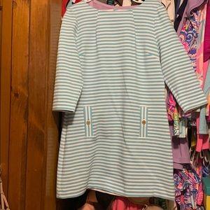 Lily Pulitzer white blue striped dress